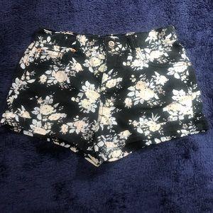 Stylish Floral Jean Shorts
